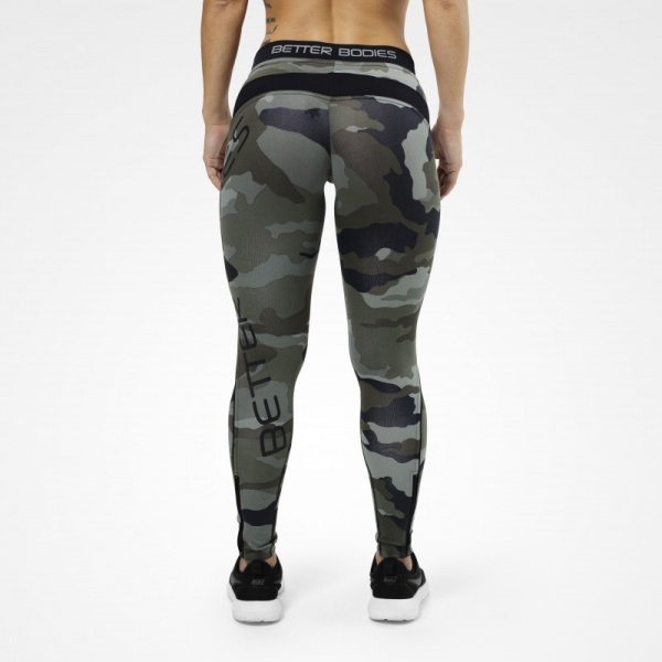 Better Bodies Camo Long Tights Green Camo L Fitness Factory